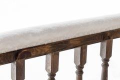 Poręcz weranda pod śniegiem Obrazy Royalty Free