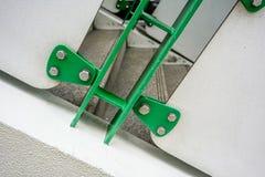 Poręcza system panel budował materiały fo i metali rygle Obrazy Stock
