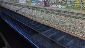 Poręcze Przeglądają Od chodzenie pociągu zdjęcie wideo