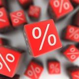 Por cento ilustração stock