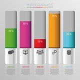 Por cento abstratos dos dados infographic Ilustração do vetor Fotografia de Stock