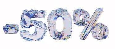 Por cento brilhantes isolados no branco Fotografia de Stock