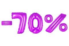 70 por cento, cor roxa Imagens de Stock
