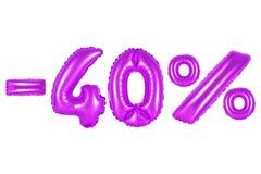 40 por cento, cor roxa Fotos de Stock