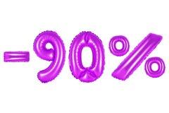 90 por cento, cor roxa Imagens de Stock Royalty Free