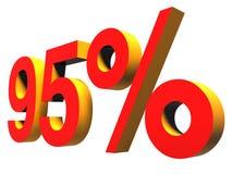 Por cento da noventa-cinco Imagem de Stock Royalty Free