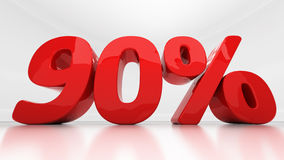 por cento da noventa 3D Fotografia de Stock Royalty Free