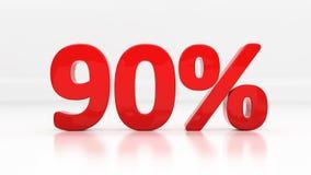 por cento da noventa 3D Imagens de Stock