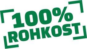 100 por cento de alimento cru ilustração do vetor