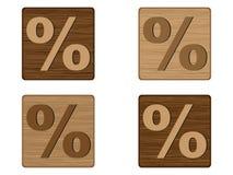 Por cento de madeira das teclas Foto de Stock Royalty Free