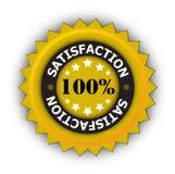 100 por cento de satisfação Fotografia de Stock Royalty Free