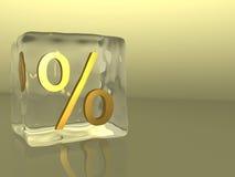 Por cento do cubo de gelo Imagens de Stock