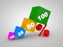 Por cento do disconto fora. ilustração 3D. Foto de Stock