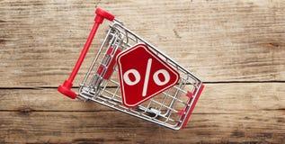 Por cento do trole da compra Imagem de Stock