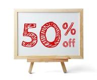50 por cento fora Fotografia de Stock Royalty Free