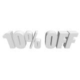 10 por cento fora das letras 3d no fundo branco Fotos de Stock
