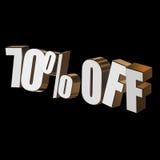 70 por cento fora das letras 3d no fundo preto Foto de Stock