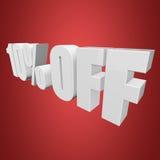 10 por cento fora das letras 3d no fundo vermelho Imagem de Stock