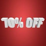 70 por cento fora das letras 3d no fundo vermelho Foto de Stock