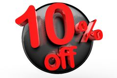 10 por cento fora de 3D ilustração stock