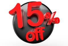 15 por cento fora de 3D ilustração do vetor