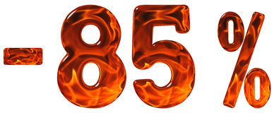 Por cento fora disconto Menos 85, oitenta e cinco por cento, numerais Fotografia de Stock Royalty Free