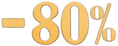 Por cento fora disconto Menos 80 oitenta por cento, isolado dos numerais Fotografia de Stock Royalty Free