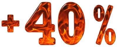Por cento fora disconto Menos 40, quarenta por cento, isolat dos numerais Fotografia de Stock Royalty Free