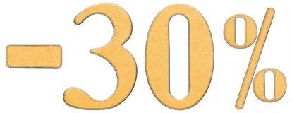 Por cento fora disconto Menos 30 trinta por cento, isolado dos numerais Fotos de Stock