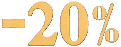 Por cento fora disconto Menos 20 vinte por cento, isolado dos numerais Fotos de Stock