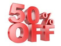 50 por cento fora do ícone 3d Fotos de Stock Royalty Free