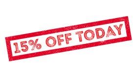 15 por cento fora do carimbo de borracha de hoje Foto de Stock