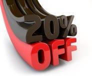 20 por cento fora do sinal relativo à promoção Imagens de Stock