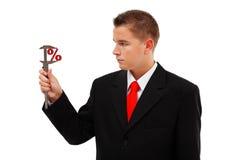 Por cento grandes ou pequenos da medição Foto de Stock Royalty Free