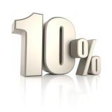 10 por cento isolados no fundo branco 3d rendem Fotos de Stock Royalty Free