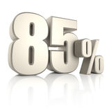 85 por cento isolados no fundo branco 3d rendem ilustração royalty free
