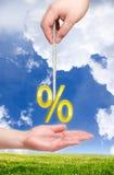 Por cento na corda Fotos de Stock