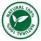 100 por cento naturais Ilustração Stock