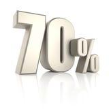 70 por cento no fundo branco 3d rendem Foto de Stock