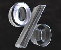 Por cento no vidro - 3D Imagem de Stock