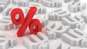 Por cento poderosos dos primecoins Foto de Stock Royalty Free