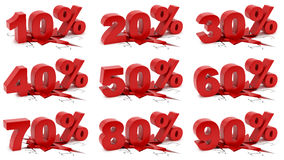 10-90 por cento que esmagam a terra Fotografia de Stock Royalty Free