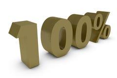 Por cento tridimensionais no ouro Fotografia de Stock Royalty Free