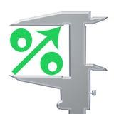 Por cento verdes do ícone acima Imagens de Stock