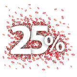 25 por cento vermelhos Foto de Stock