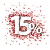 15 por cento vermelhos Foto de Stock