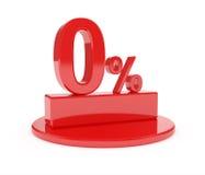 Por cento zero Foto de Stock Royalty Free