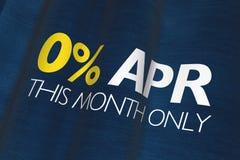 Por cento zero ABRIL Imagem de Stock Royalty Free