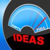 Por completo de ideas indica la invención e invenciones del indicador Foto de archivo