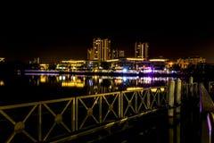 Por completo de la iluminación en Ayer 8, Putrajaya Fotos de archivo